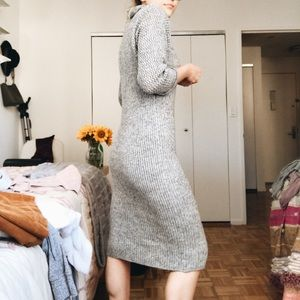 Dresses - Thrifted Gray Sweater Dress